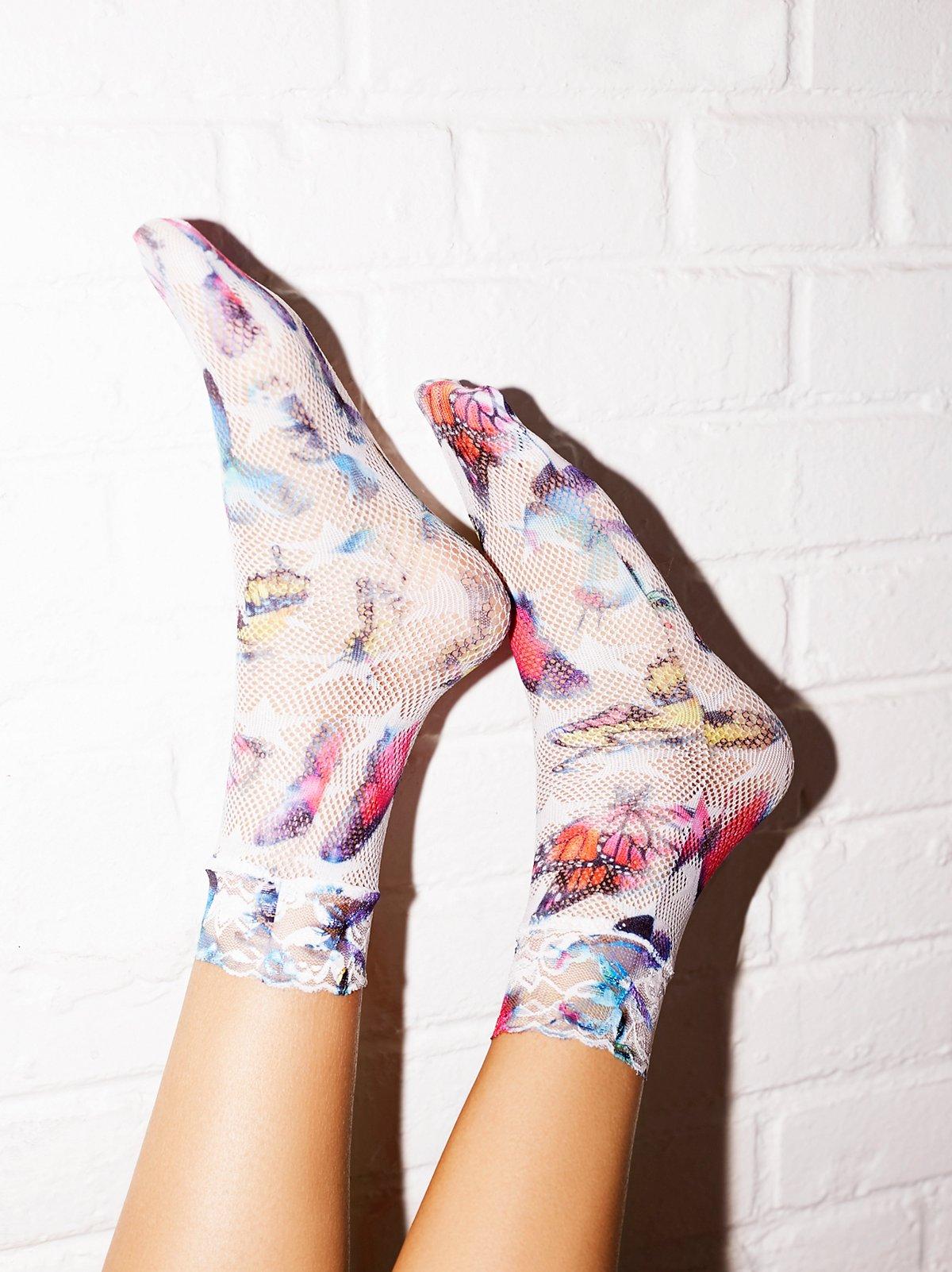 Flutter网眼踝袜