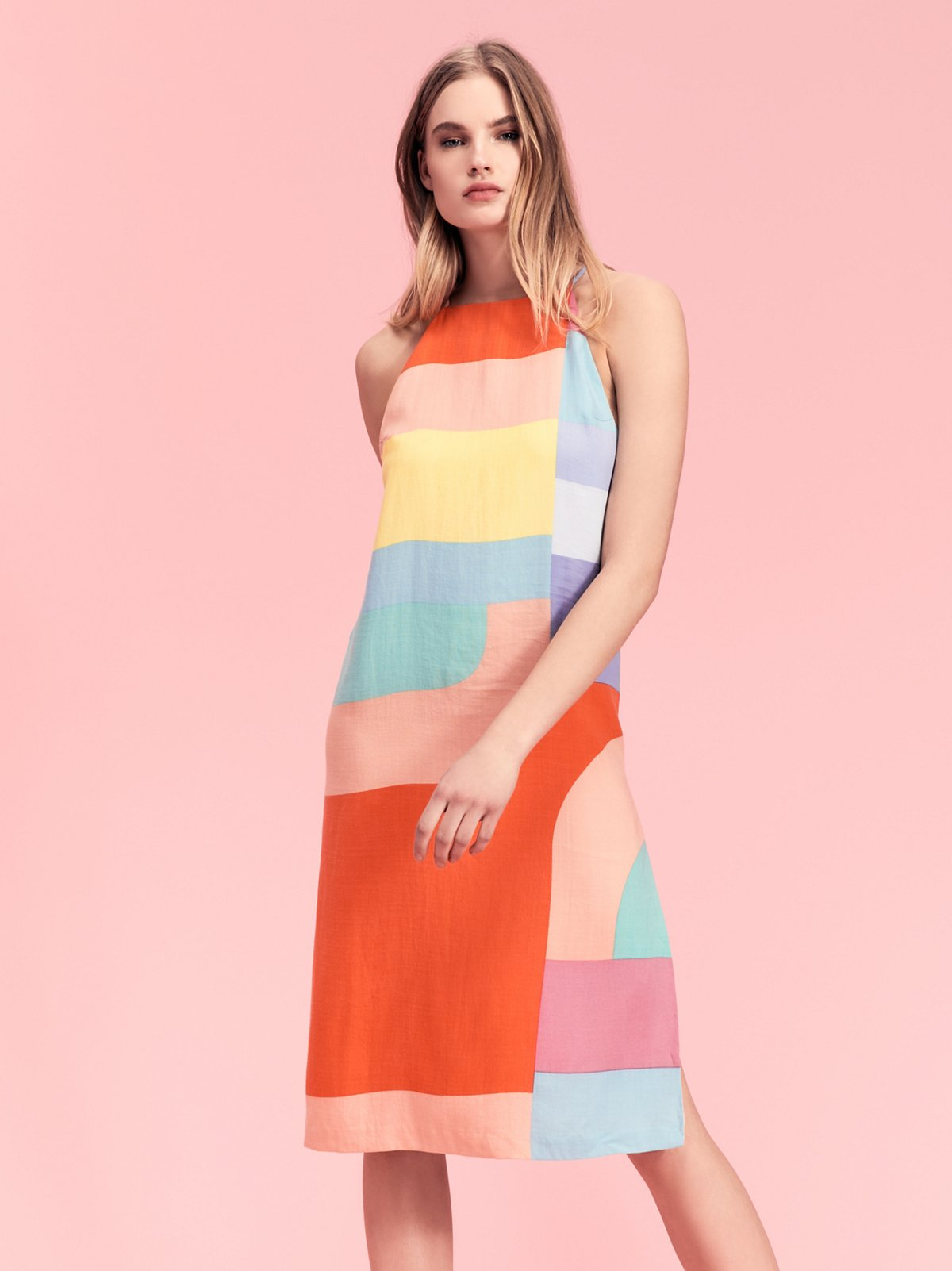 Colorblock Slip Dress