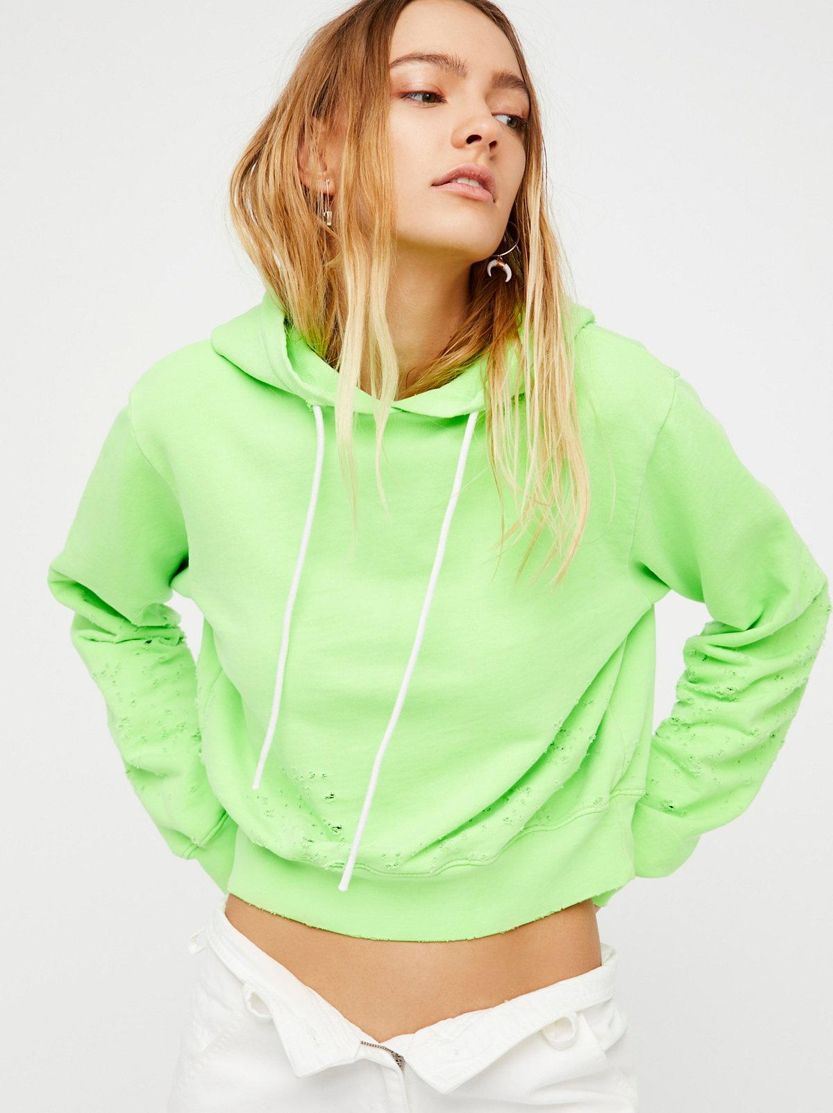 Milan Cropped Pullover Hoodie