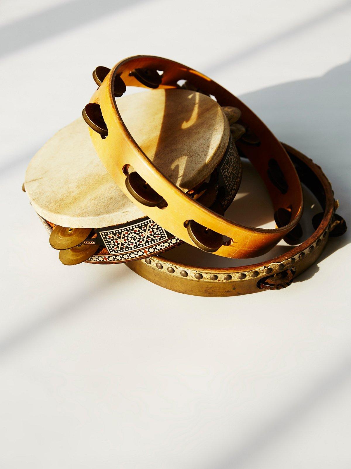 Vintage Tambourine Set