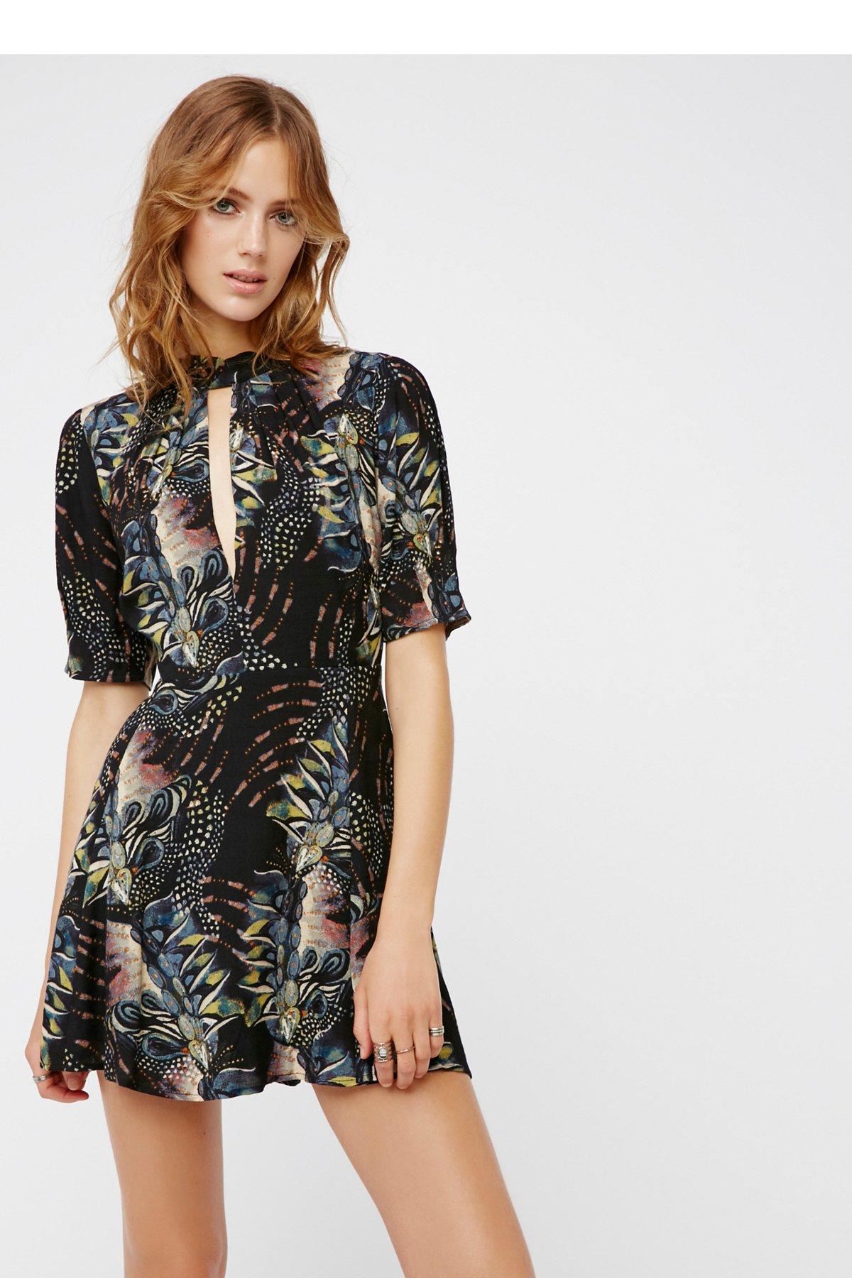 Glassgow几何图案迷你连衣裙
