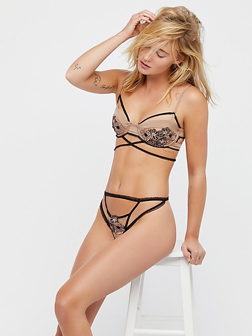 Product Image: Heliotrope Applique Thong
