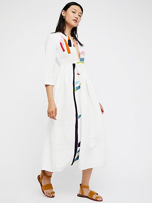 Product Image: 刺绣中长款连衣裙