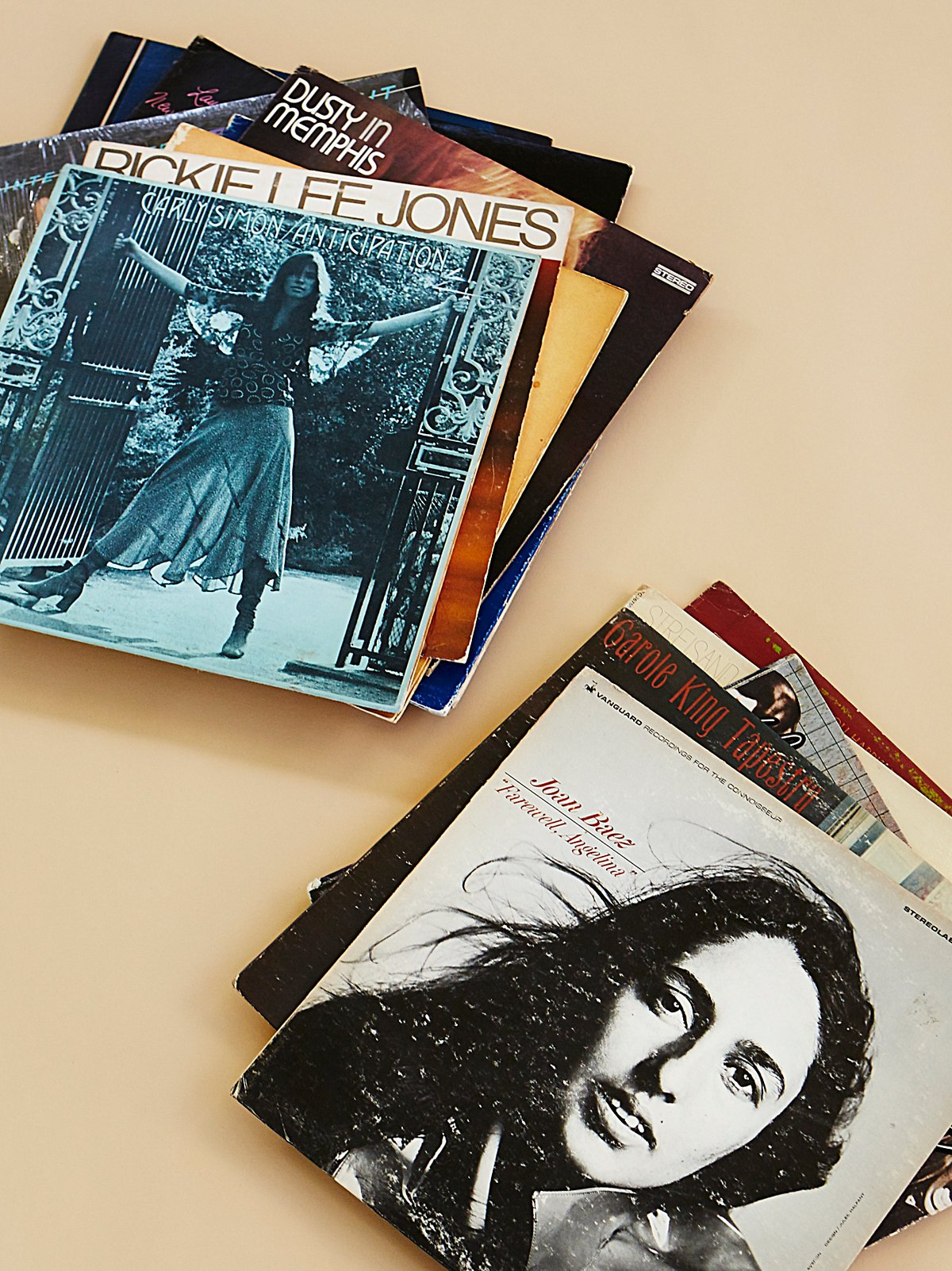 Female Icons Vintage Record Collection