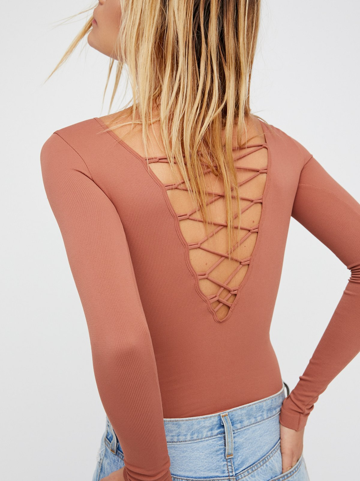 All Laced-Up Long Sleeve Layering Top