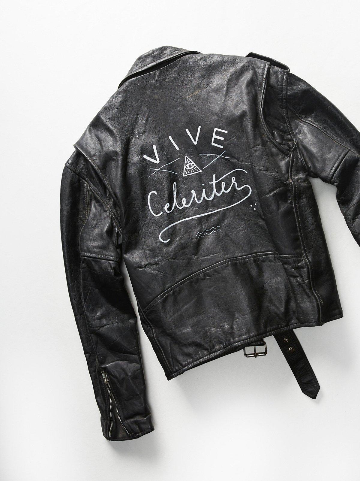 Vintage Painted Moto Jacket