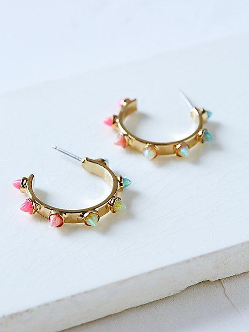 Product Image: Yuvi Opal Spike Hoops