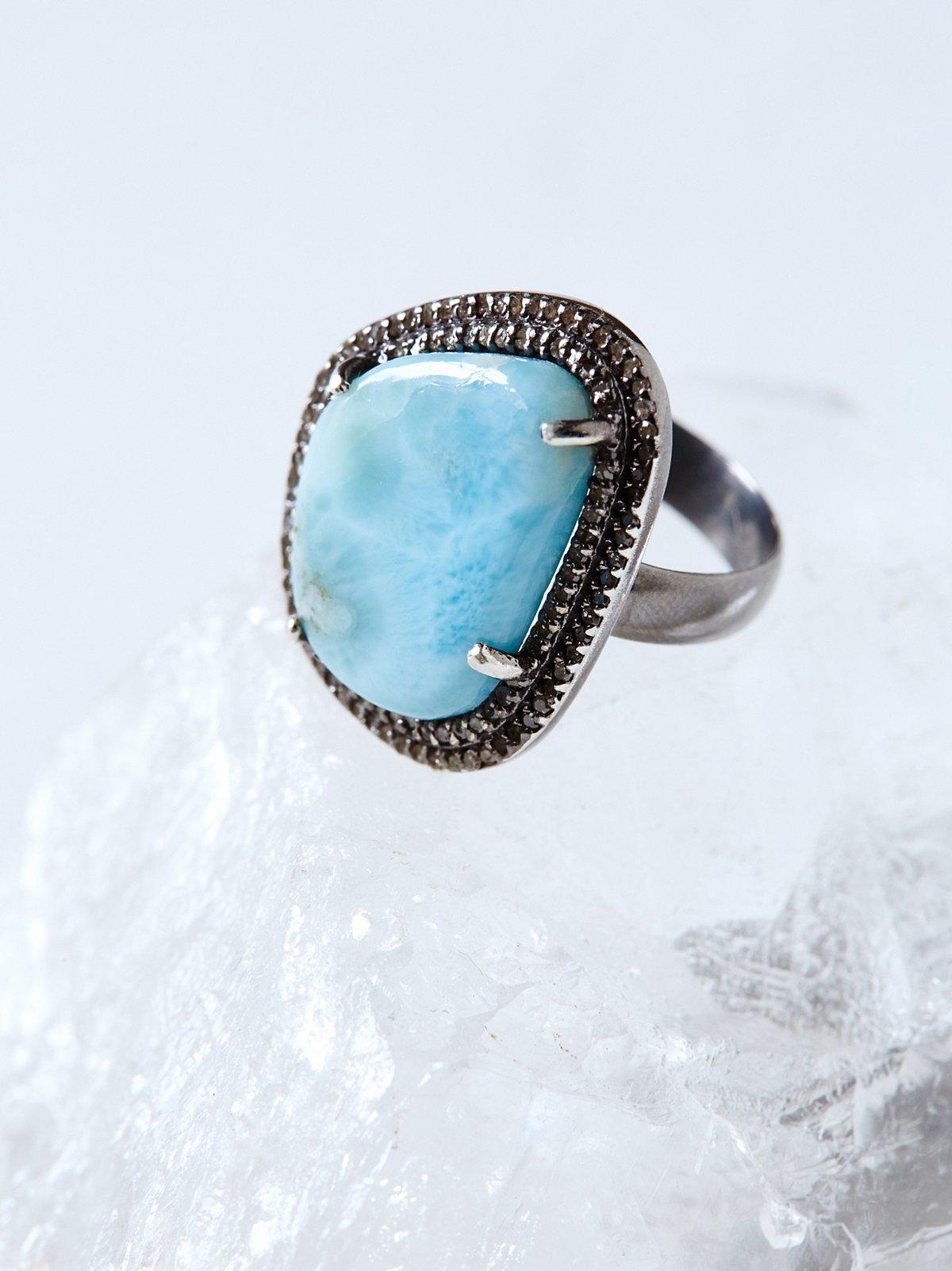 Larimar Diamond Ring