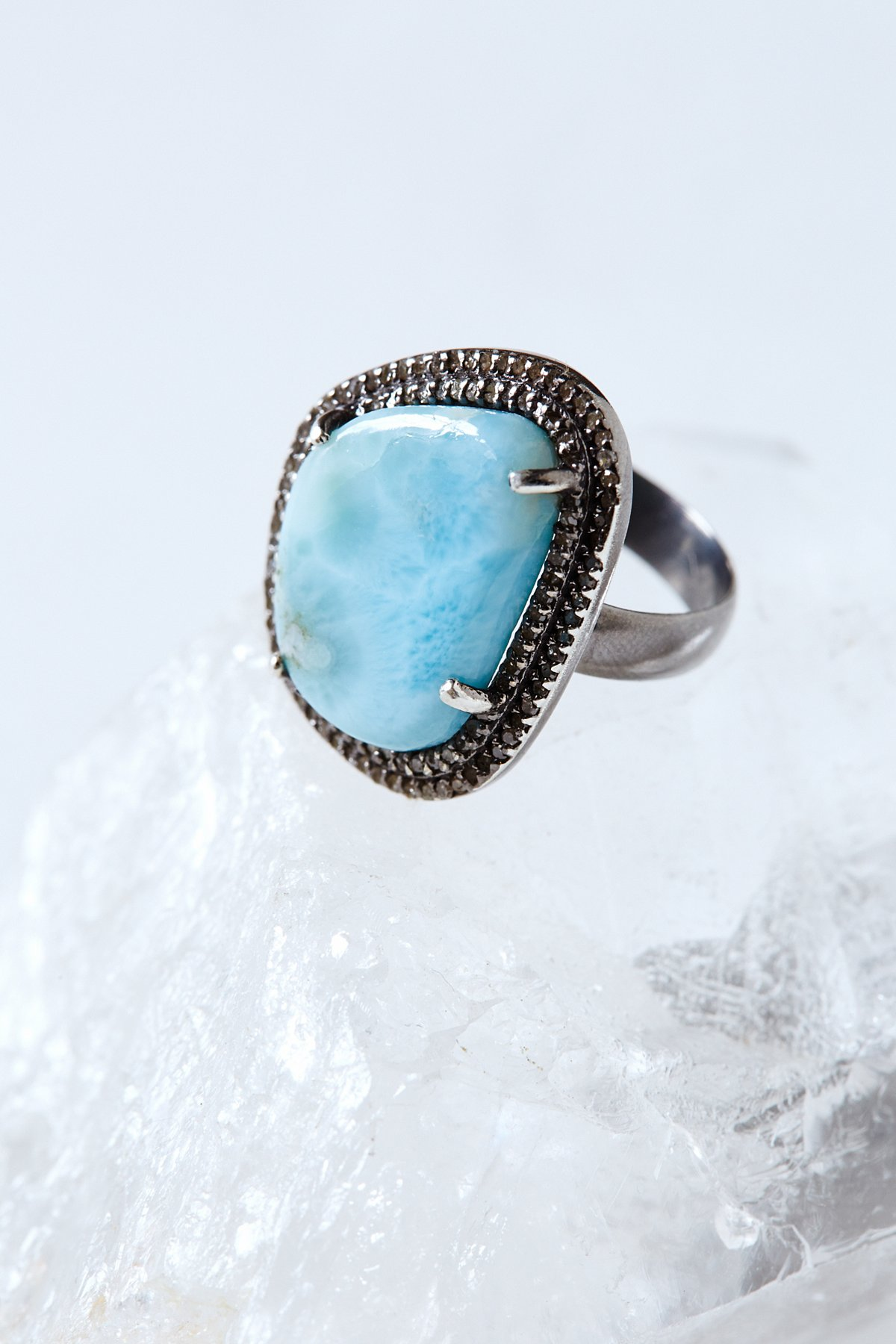 Larimar Diamond Ring