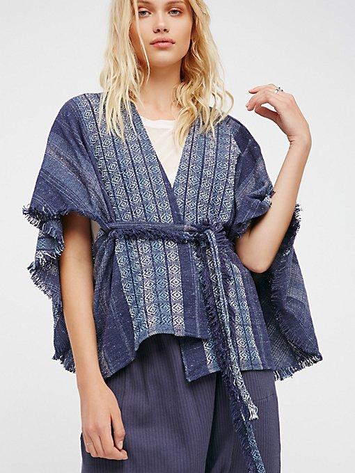 Product Image: Half Moon提花和服式上衣
