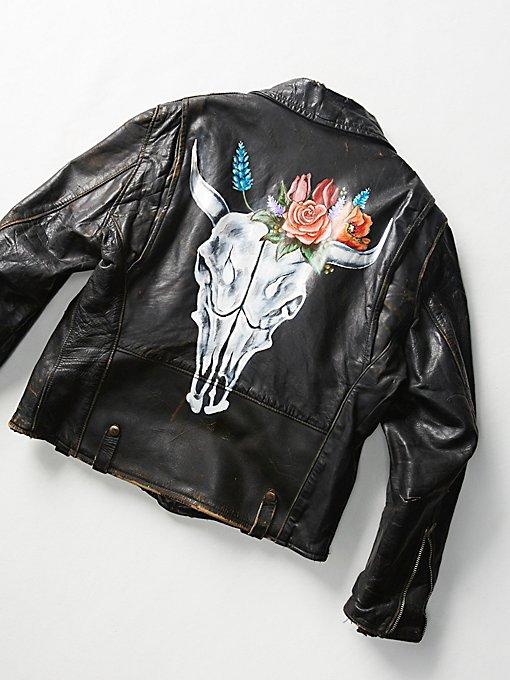 Product Image: Vintage Painted Moto Jacket