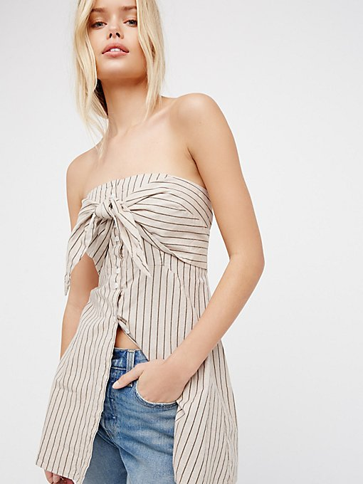 Product Image: Heartbreaker条纹抹胸上衣