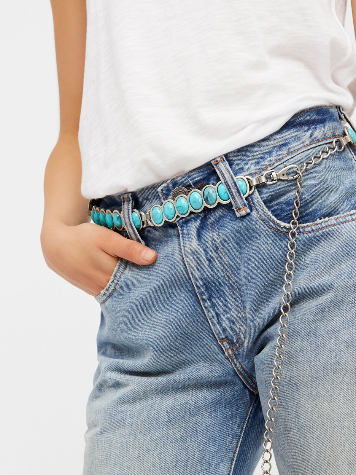 Turquoise Train Metal Belt