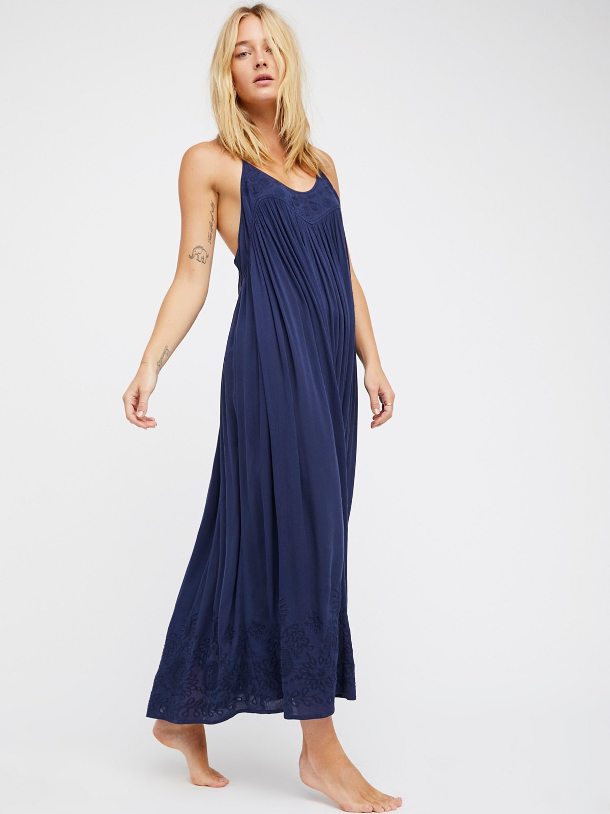 Embroidered Elaine Maxi Slip