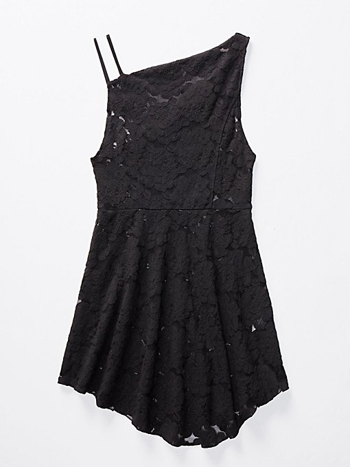 Product Image: 不对称式蕾丝修身宽摆衬裙