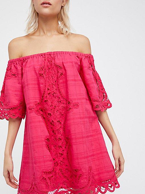 Product Image: Battenburg Off-The-Shoulder Mini Dress