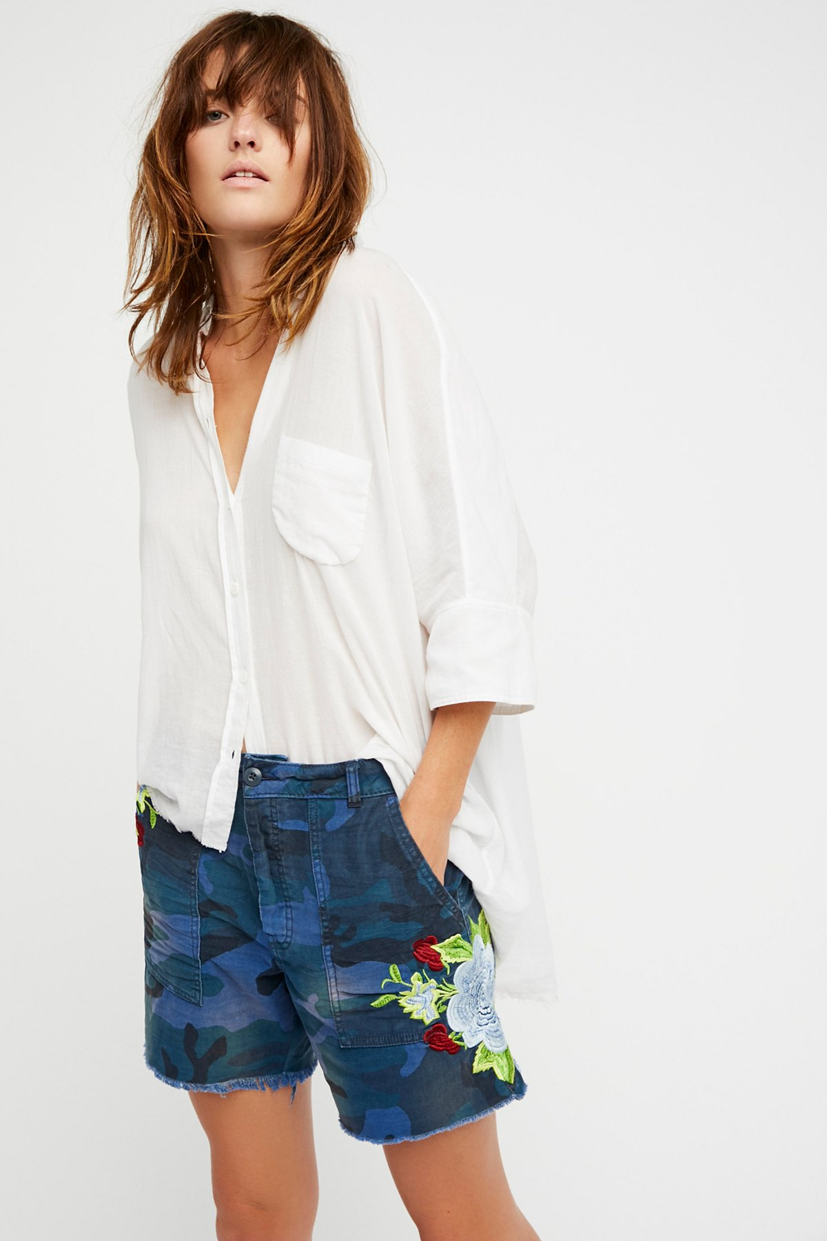 Embroidered Scout Short