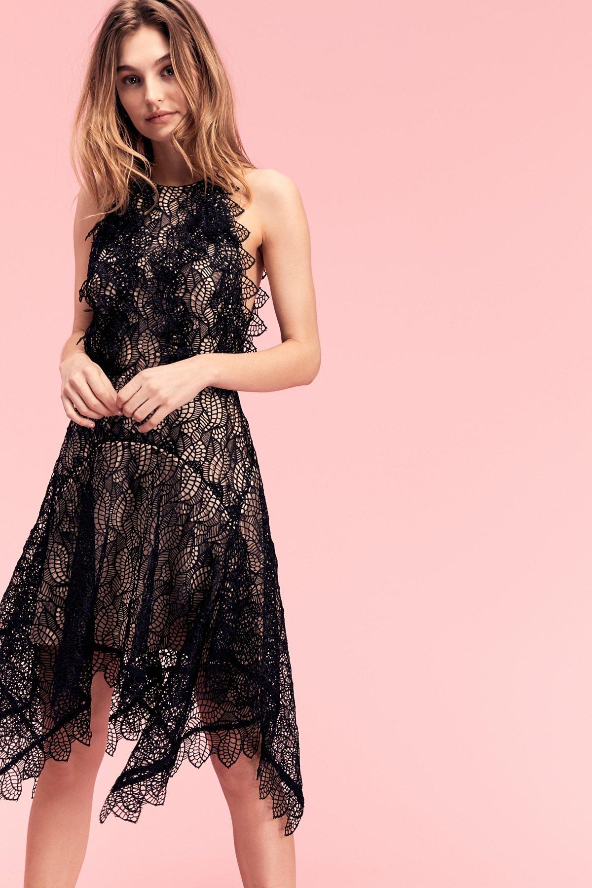 Burtan High Low Lace Dress