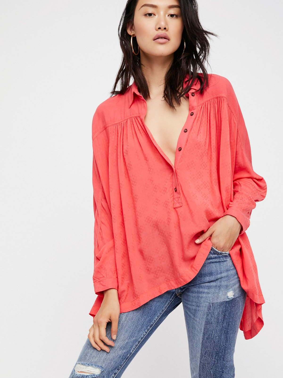 Lovely Day Buttondown Top