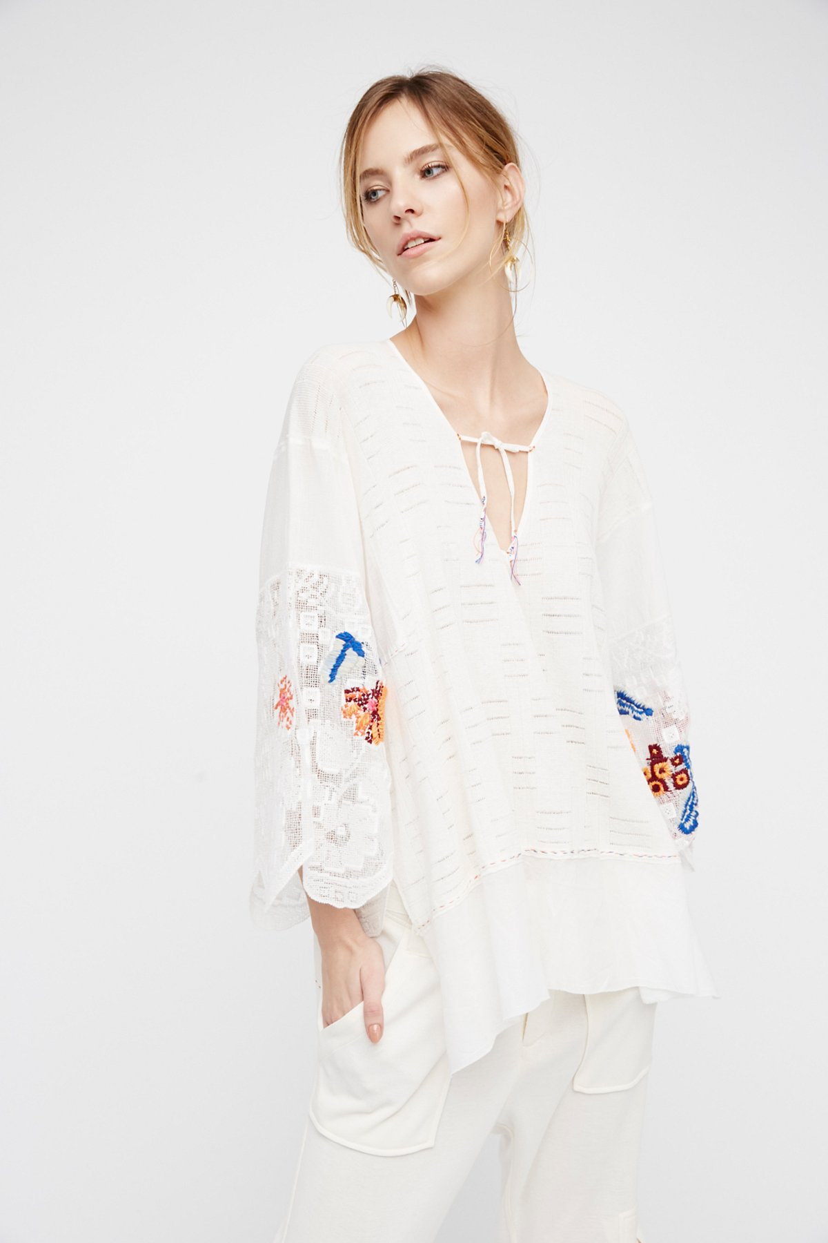 Embroidered Flower Tunic