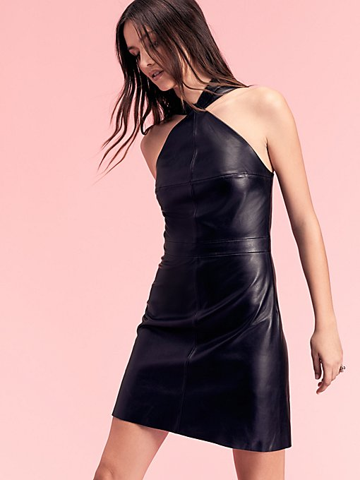 Product Image: Estelle Leather Mini Dress