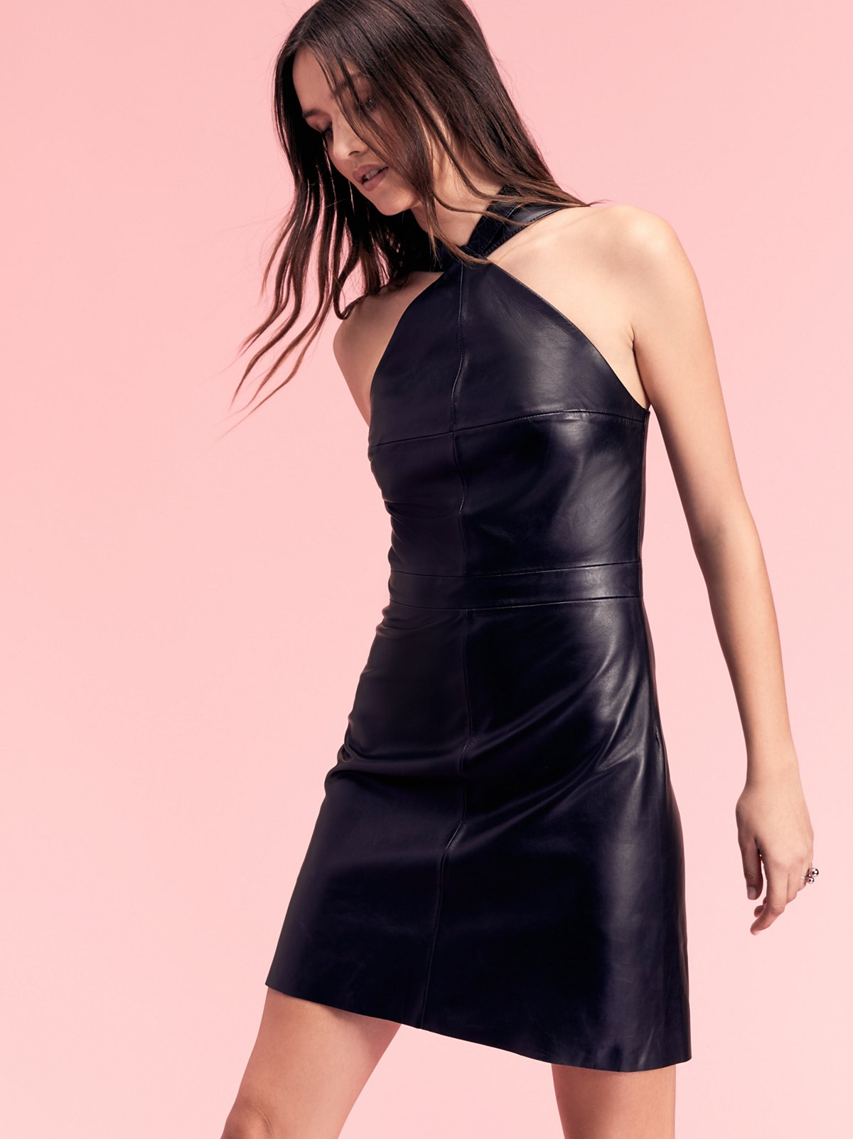Estelle Leather Mini Dress