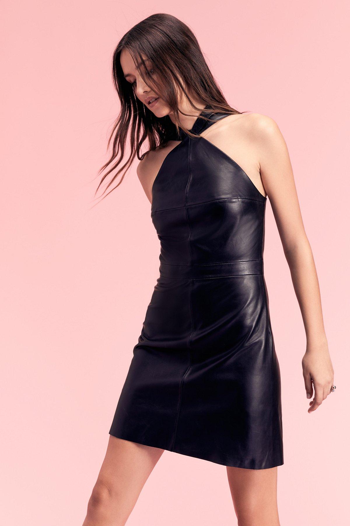 Estelle Leather Mini Dress