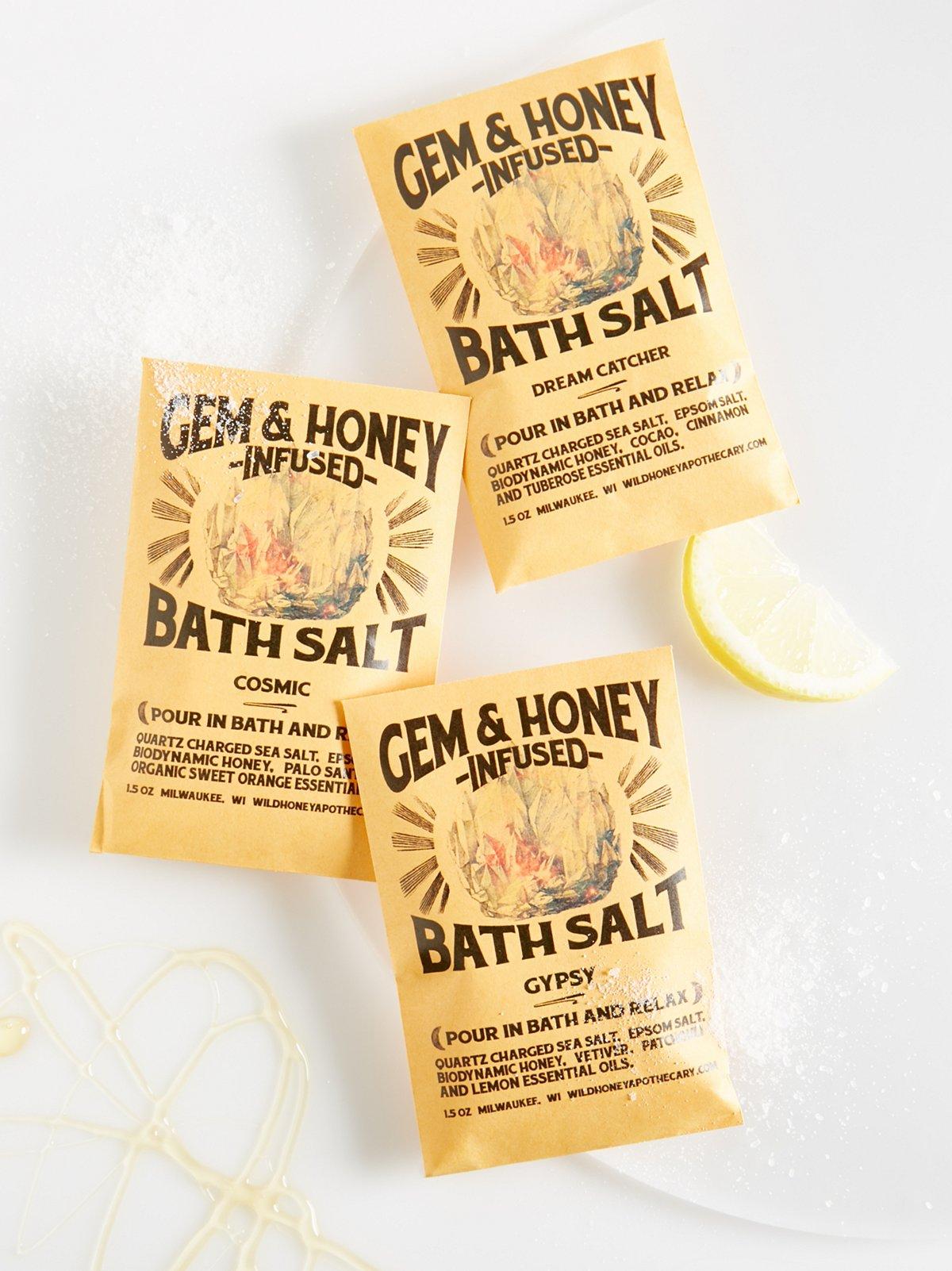 Gem & Honey Infused Bath Salts