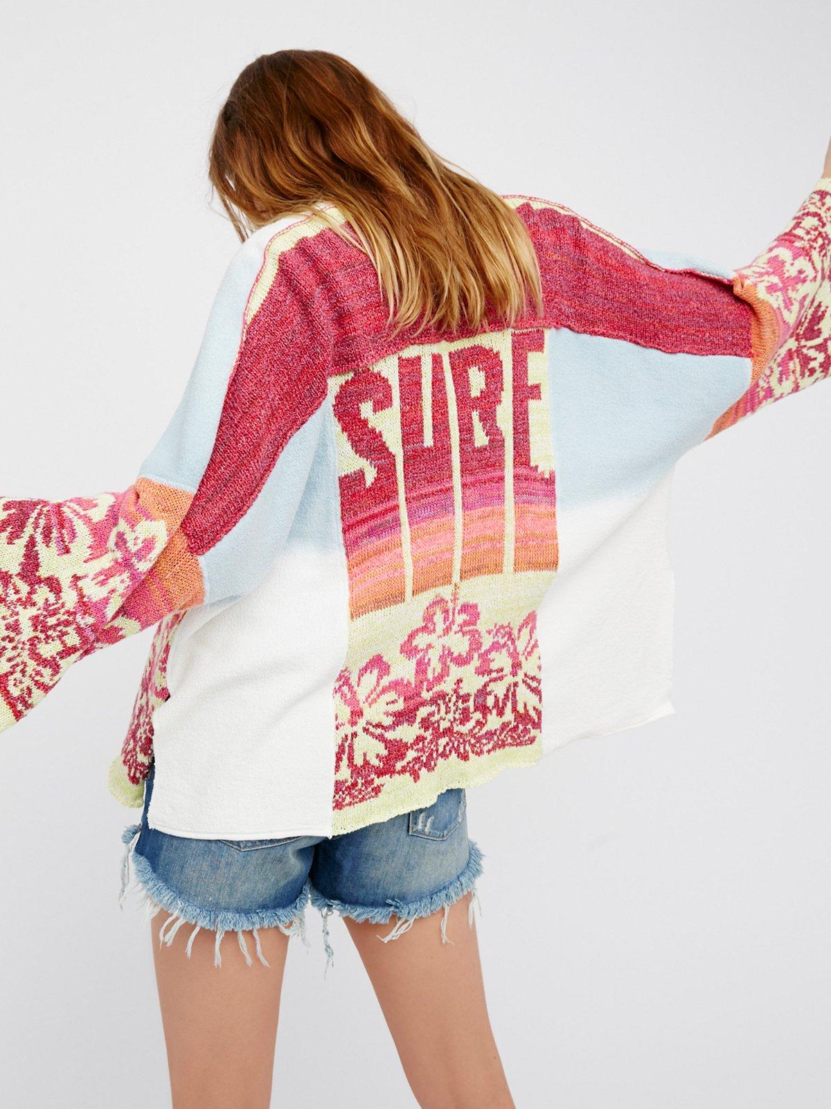 Surf毛线和服式上衣