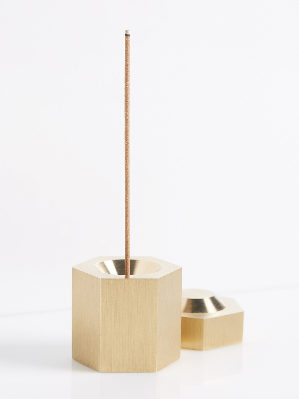 Brass Hexagon Incense Burner
