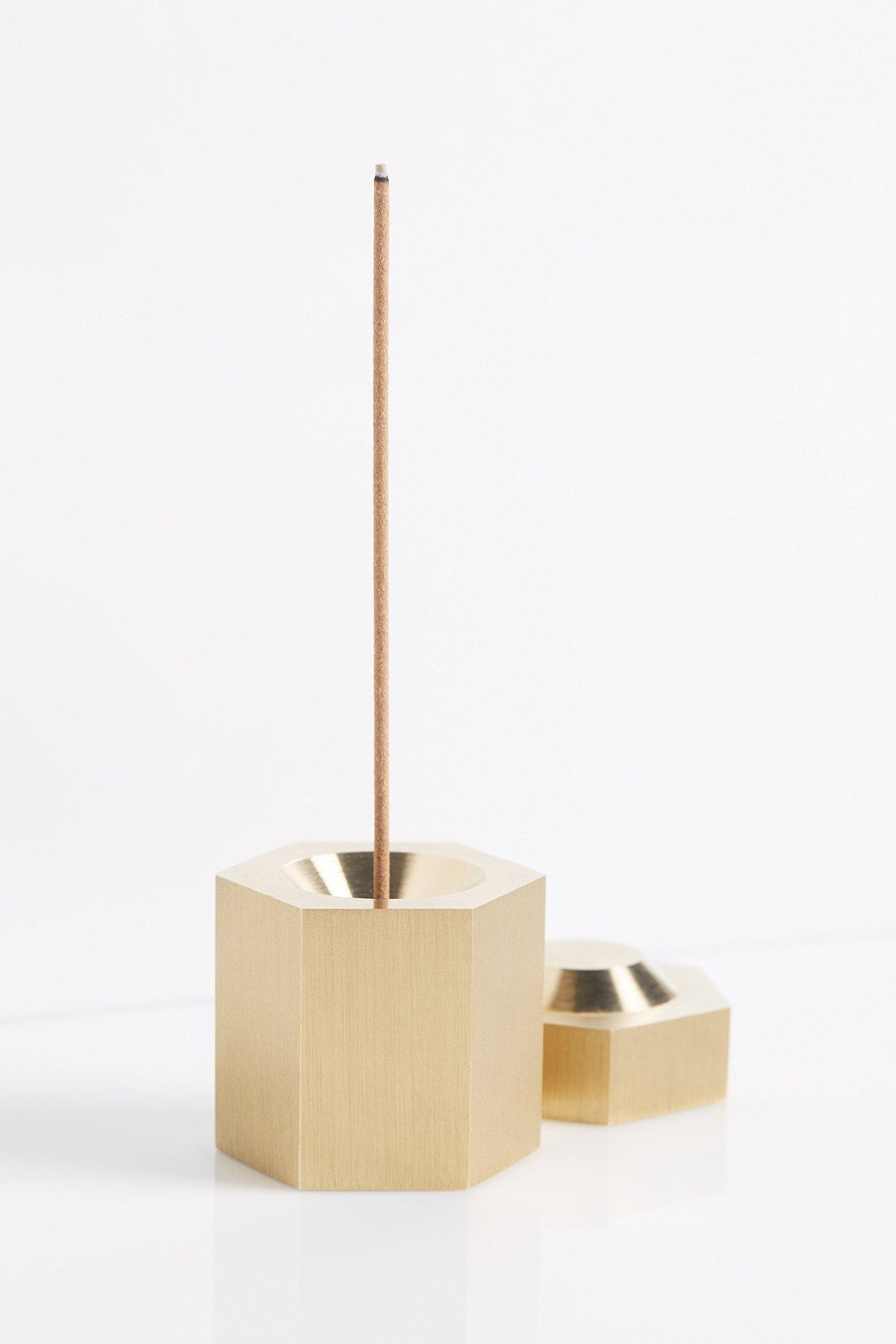 黄铜六角形香炉
