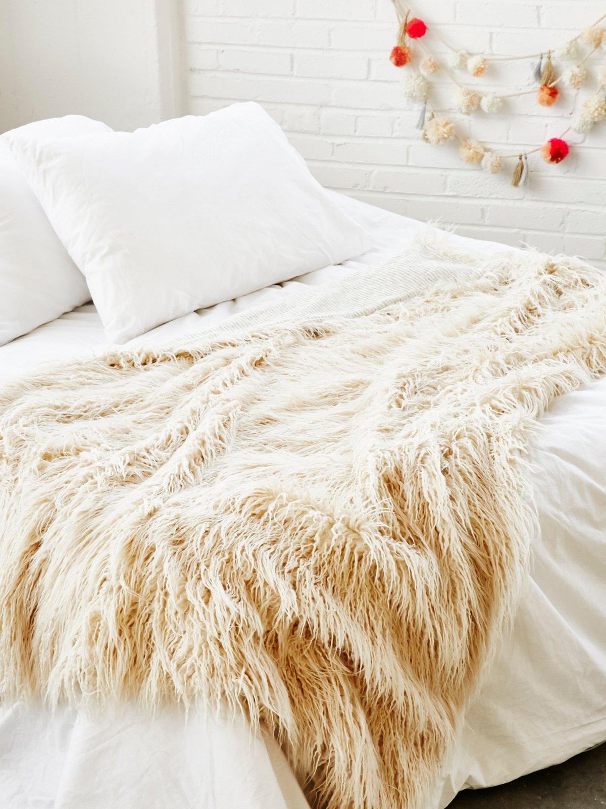 Mongolian Faux Fur Blanket