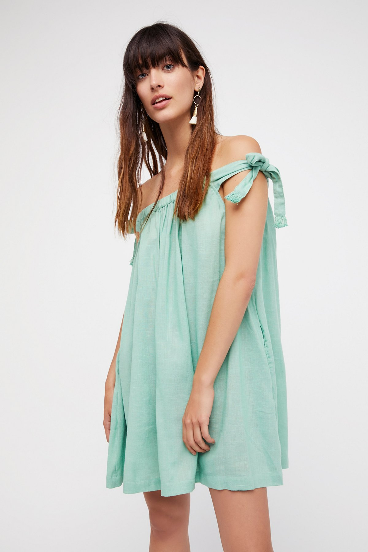 Just Right Off-The-Shoulder Mini Dress