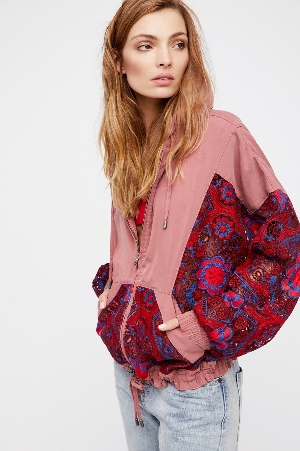 Magpie超大款蕾丝夹克