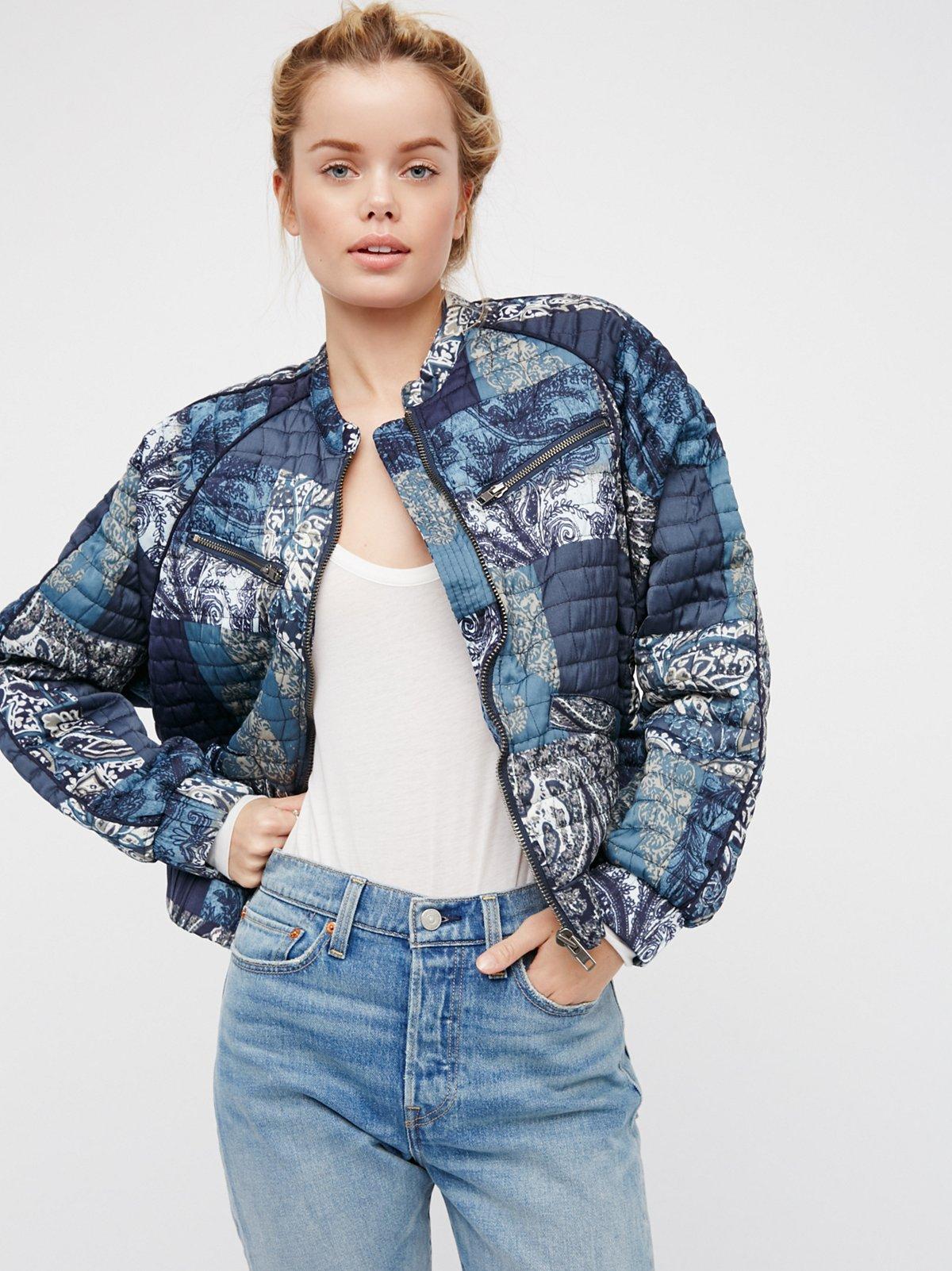 Printed Patchwork Jacket
