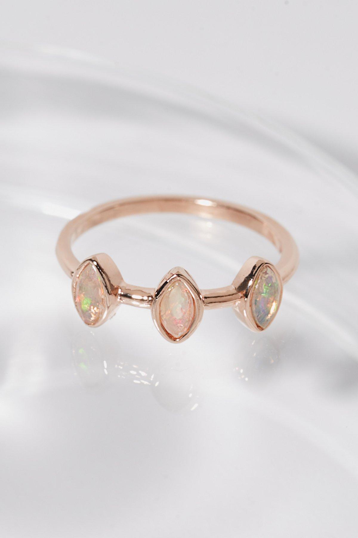 Triple Crown Opal Ring