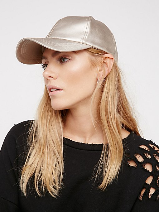 Product Image: Gramercy Vegan Leather Baseball Hat