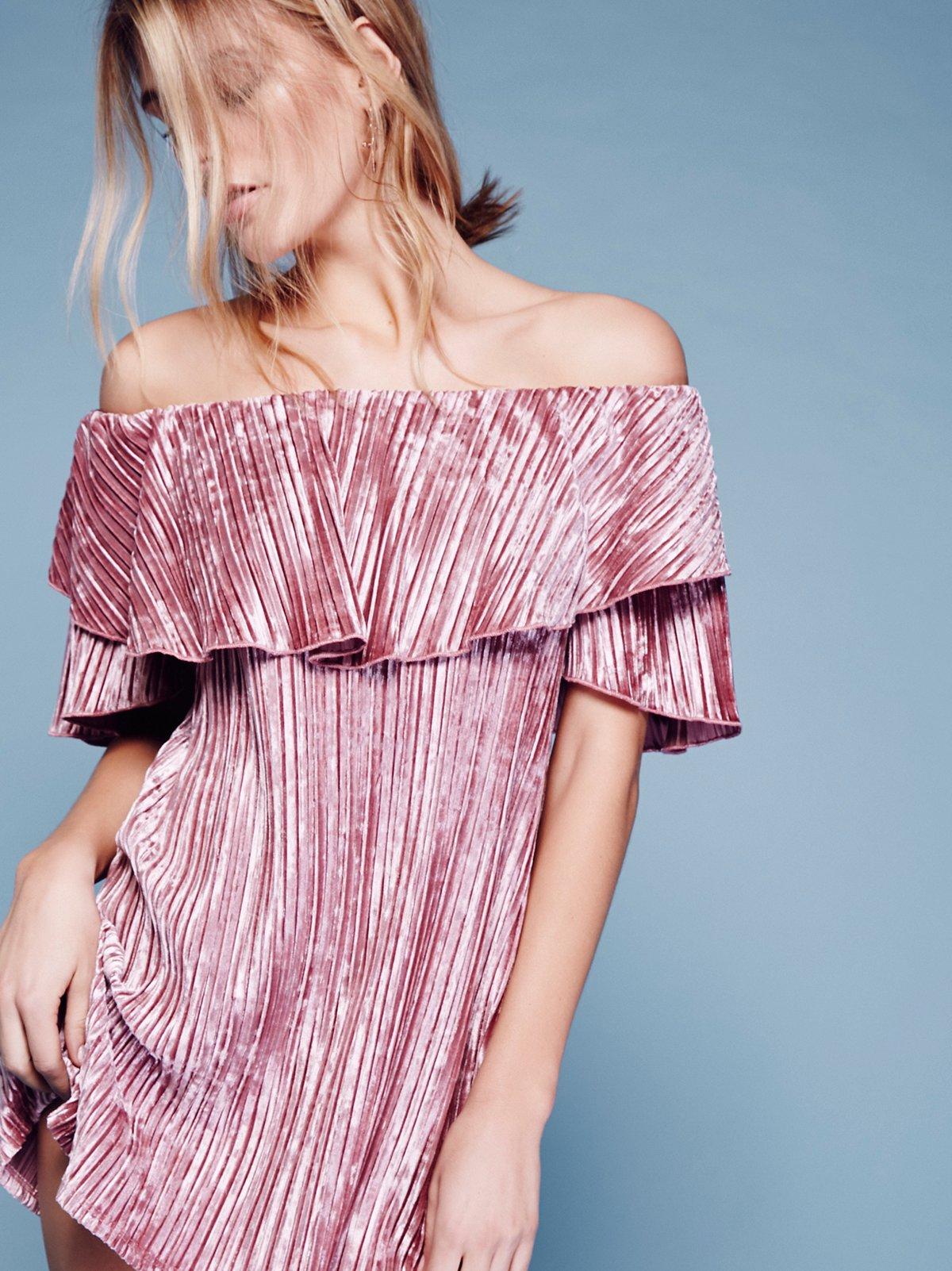Into The Night Velvet Mini Dress