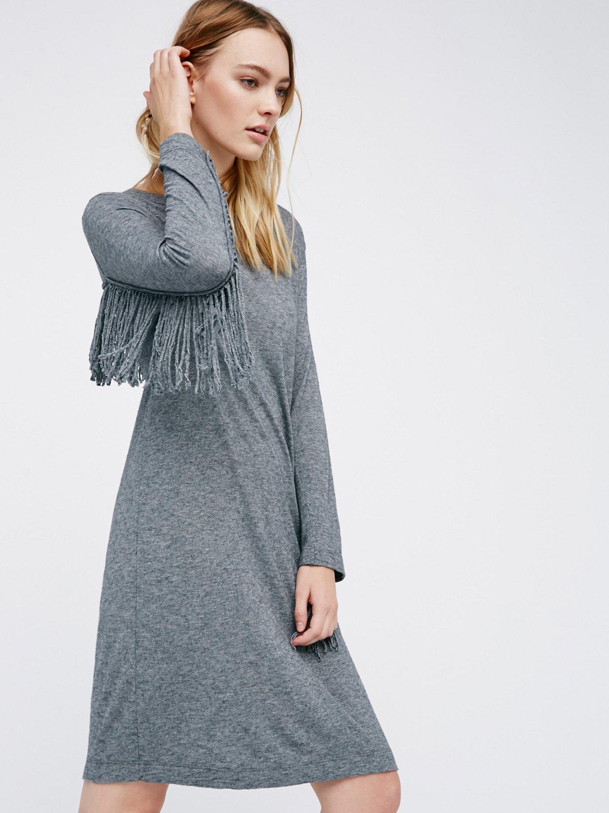 Winter Fringe T-Shirt Dress