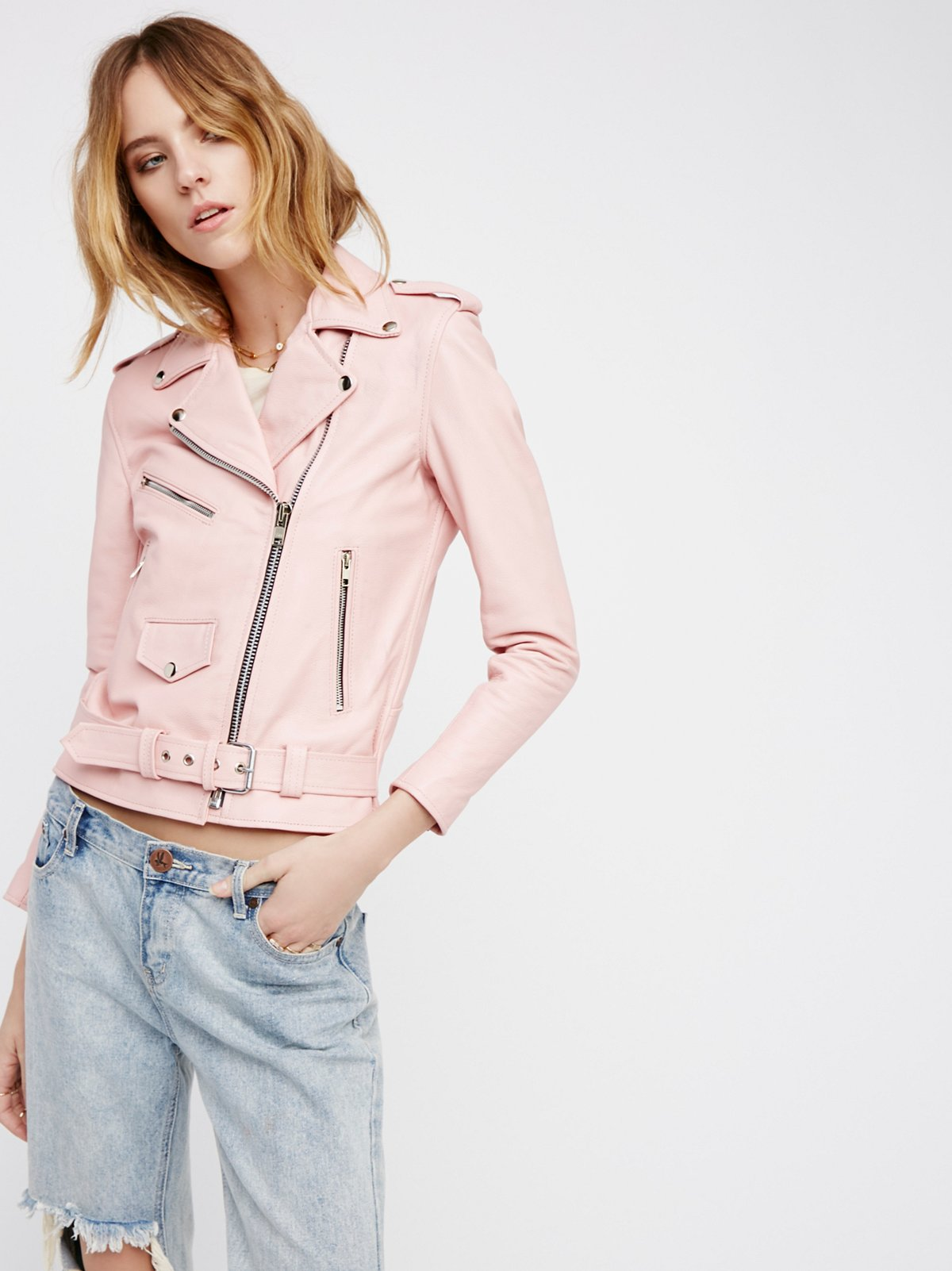 Easy Rider Pink Leather Jacket