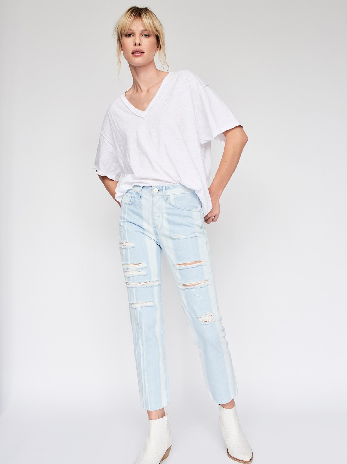 Higher Ground Boyfriend Crop Jeans