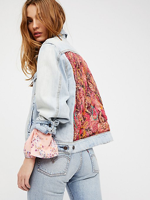 Product Image: Paisley Quilted Denim Jacket