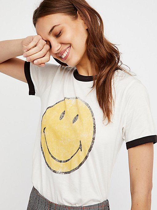 Product Image: Smiley Ringer Tee