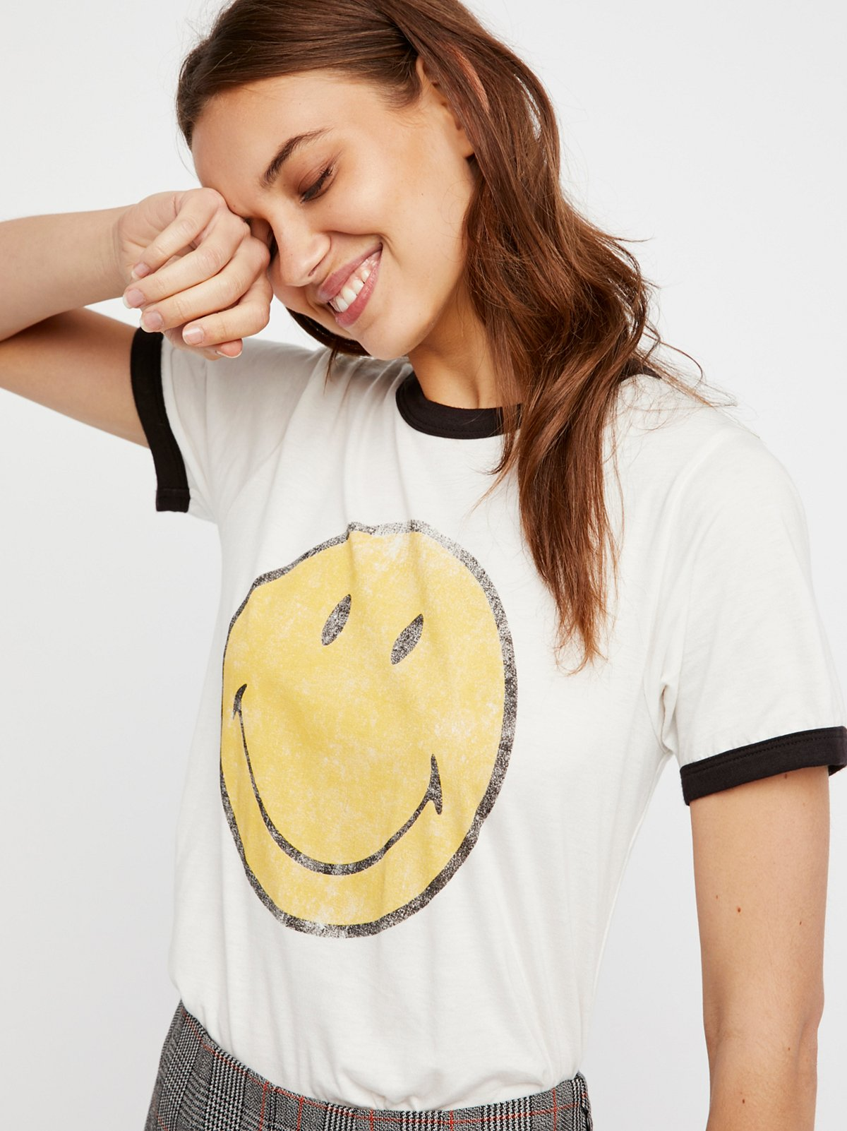 Smiley Ringer Tee