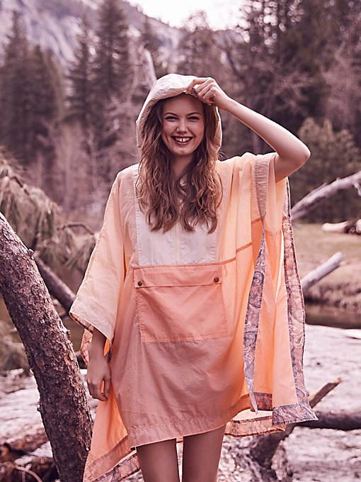 Product Image: Colorblocked Nylon Poncho