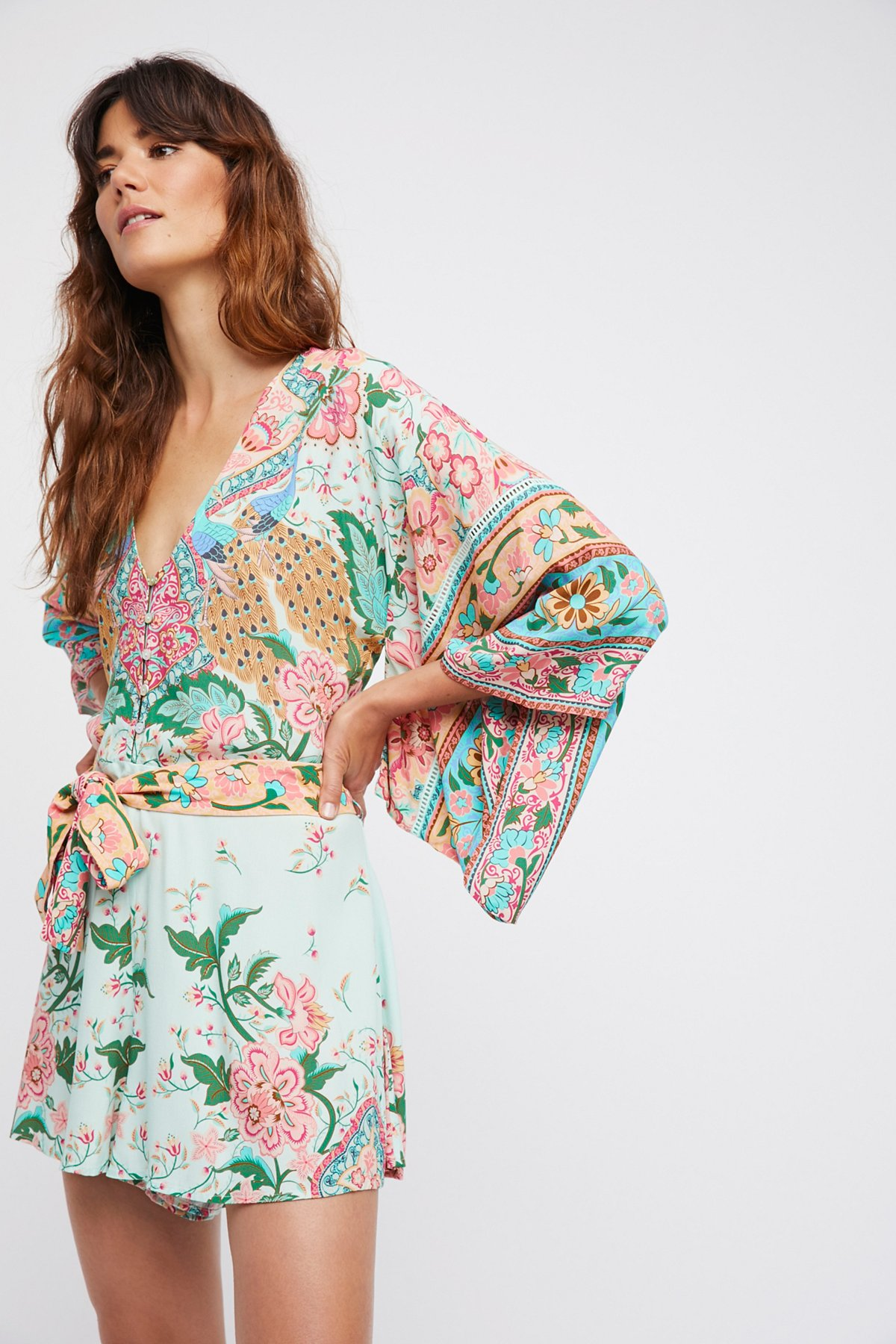 Lotus Kimono Romper