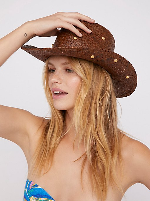 Product Image: Cha Cha Studded Straw Cowboy Hat