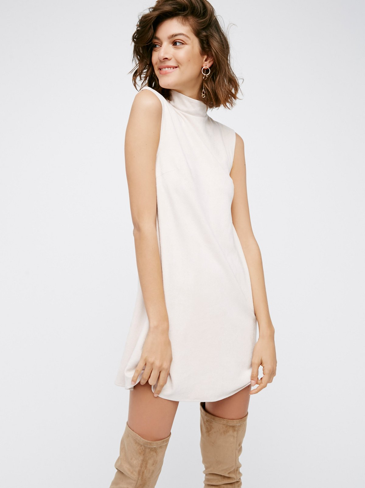 Northern Faux Suede Dress