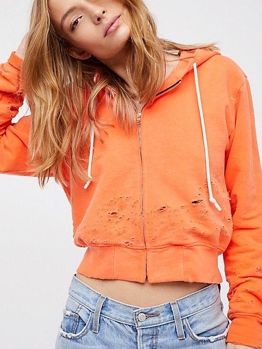 Product Image: Milan Cropped Zip Hoodie
