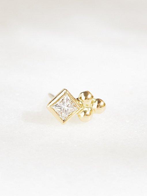 Product Image: 3 Ball Diamond Princess Trinity Stud